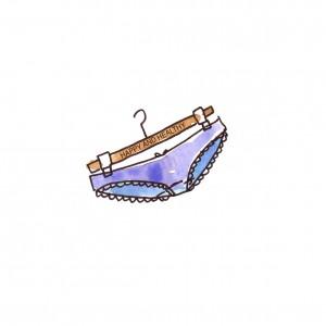 blue panties size hh