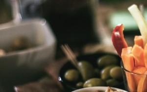 olives and ham healthy travel snack