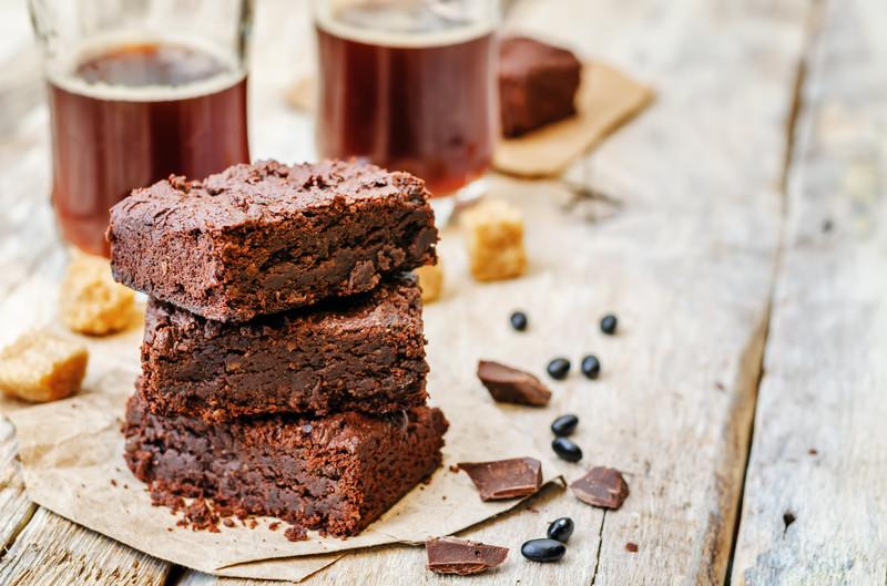 raw choc black bean brownies